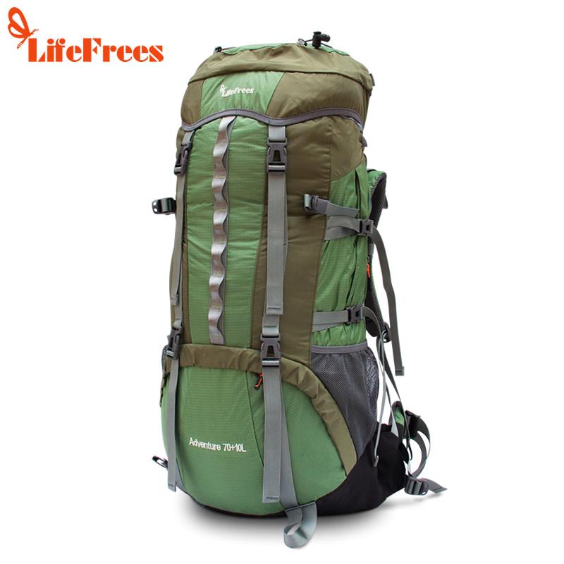 乐飞思 毒龙 专业装备包 登山包 大号户外包 双肩背包 70L+10L