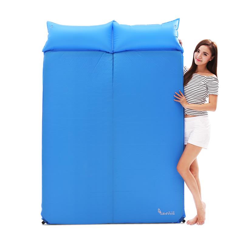 乐飞思 户外露营睡垫 双人自动充气垫 加厚 加宽 5CM 可选