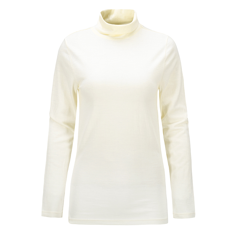 Naturally Inspired/天赋灵感 羊毛局合作100%美丽诺女士190修身高领长袖T恤77592