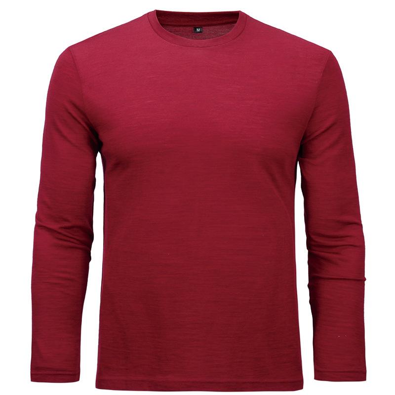 羊毛局合作Naturally Inspired100%美丽诺羊毛男士圆领长袖T恤100150    77593