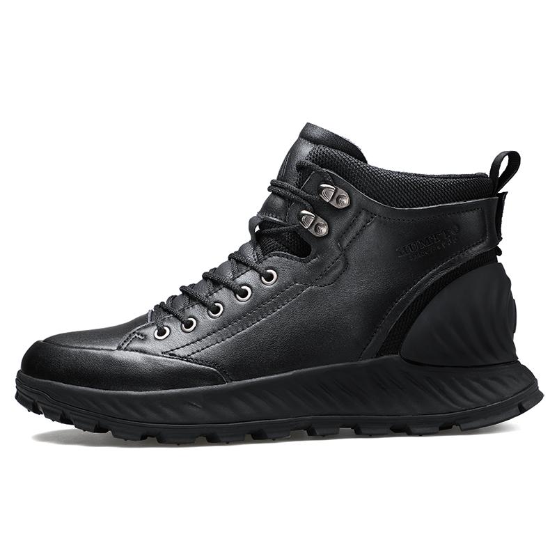 悍途 户外徒步鞋男款 黑色 冬季防滑耐磨运动登山靴潮鞋210264(77648)