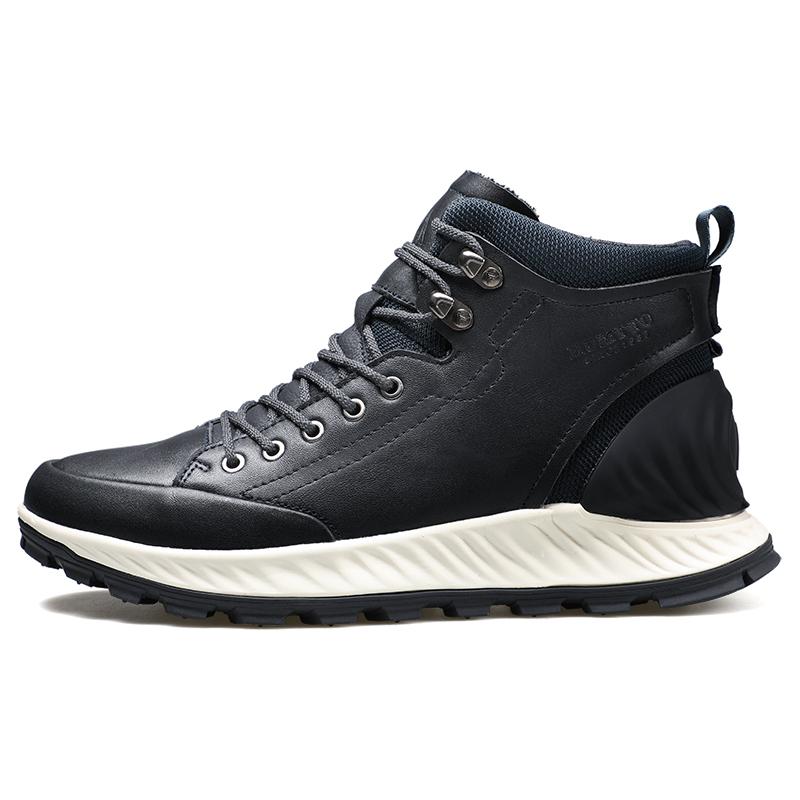悍途 户外徒步鞋男款 深蓝色 冬季防滑耐磨运动登山靴潮鞋210264(77648)