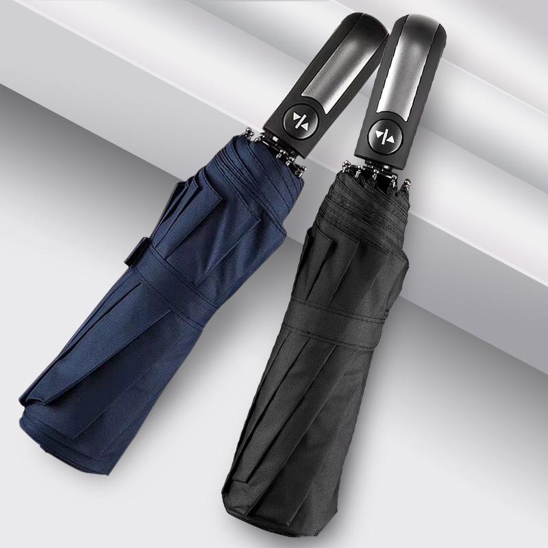 【优个精选】奔酷 自动伞10骨防晒雨伞 黑色黑胶均码 BA190 专业户外品牌出品品质出色