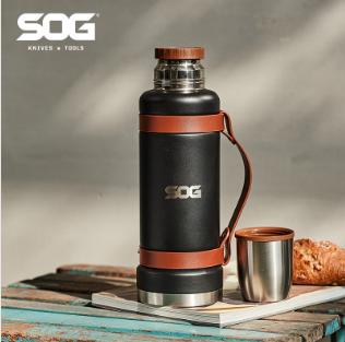 SOG索格 1200ml大容量 304不锈钢登山户外旅行饮水杯壶便携自驾壶78048