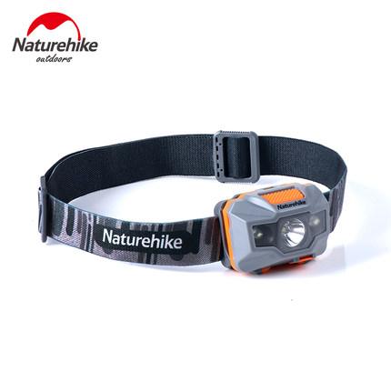 NH挪客 户外锂电LED头灯,一键即开,4档调节,防泼水,轻便仅70g左右, USB直充,强劲续航!  79908