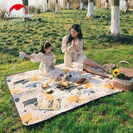 Naturehike挪客 户外野餐垫,超声波绗缝,柔软亲肤,舒适耐磨, 防潮隔热,轻量便携,双面防泼水,可机洗! 欢乐萌宠 79960
