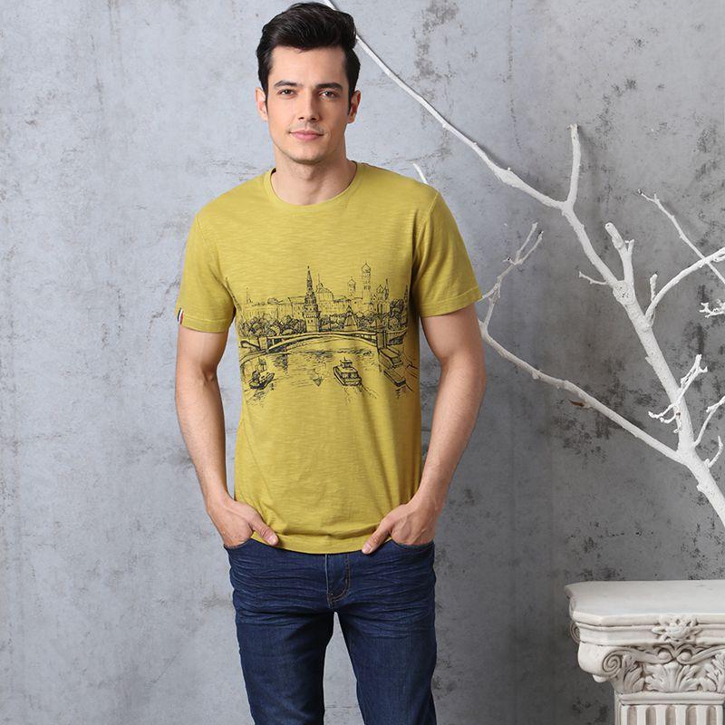莱博瑞 法国laproieCH1761020 短袖t恤 印花休闲 魔光金色