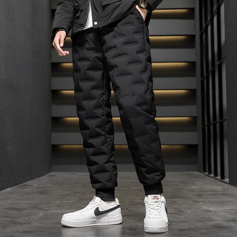 CINESSD 2020新款羽绒裤冬季加厚保暖防风白鸭绒束脚裤外穿防寒运动裤  79234