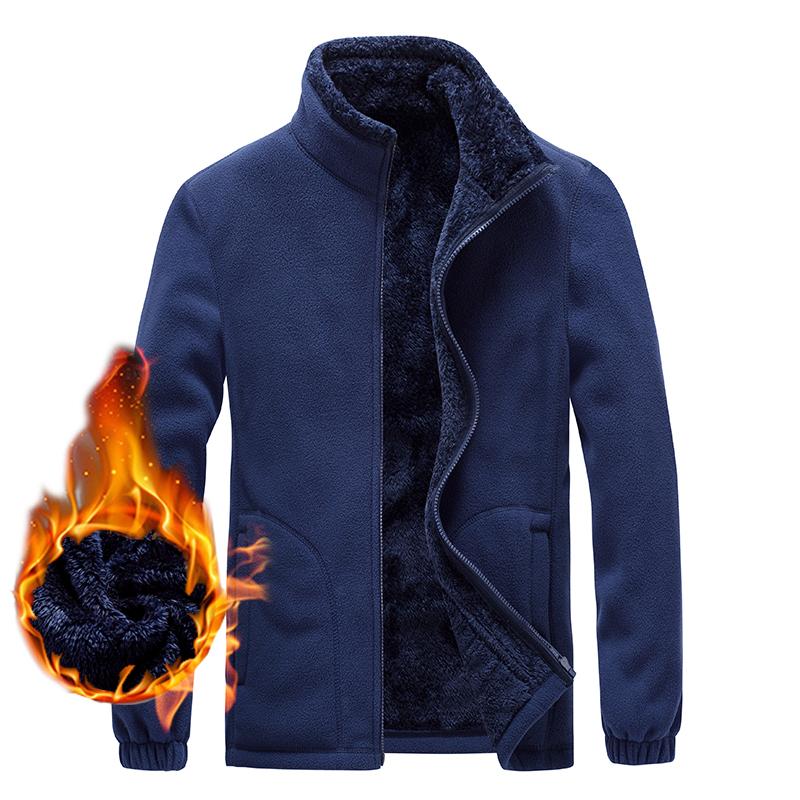 CINESSD 男款保暖抓绒外套,宝蓝色 采用聚热抓绒面料,内里加绒,轻量保暖,抗寒锁温,舒适透气!79430