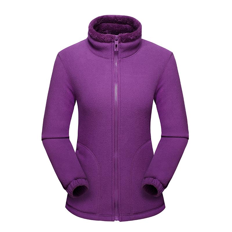 CINESSD 女款保暖抓绒外套,紫色款 采用聚热抓绒面料,内里加绒,轻量保暖,抗寒锁温,舒适透气!79430