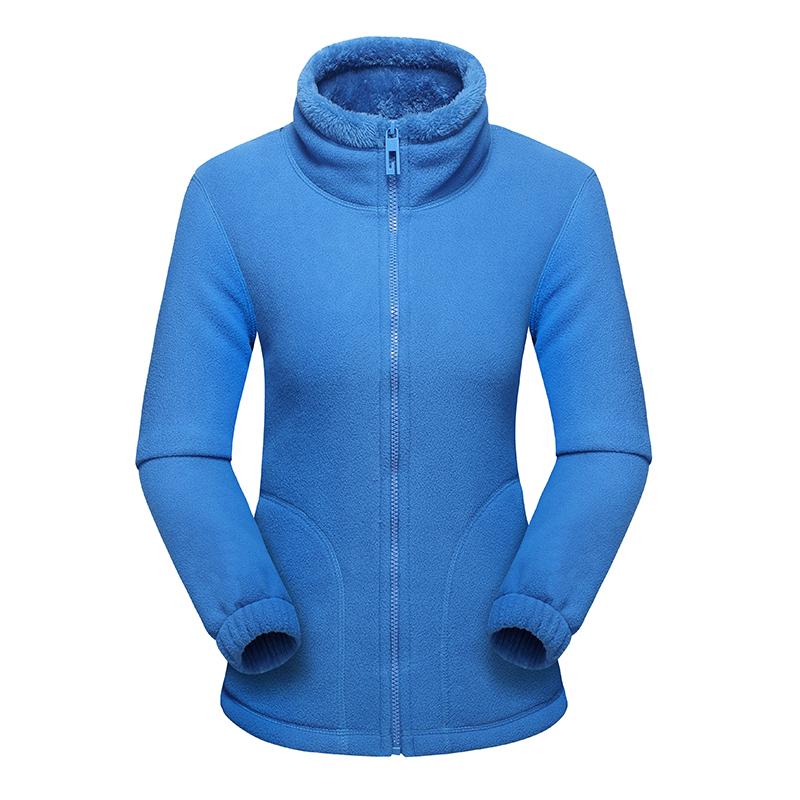 CINESSD 女款保暖抓绒外套,宝蓝款 采用聚热抓绒面料,内里加绒,轻量保暖,抗寒锁温,舒适透气79430
