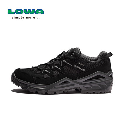 LOWA春夏户外防水登山徒步鞋SIRKOS EVO GTX男式低帮鞋 L310805  黑色 80077
