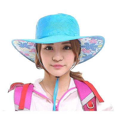 乐飞思超轻户外女士防晒皮肤帽 遮阳帽 超薄透气速干防紫外线