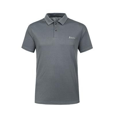Clothin/卡鲁森新款男士户外速干T恤男士运动短袖T恤透气舒适POLO衫 CT13311 灰色70746