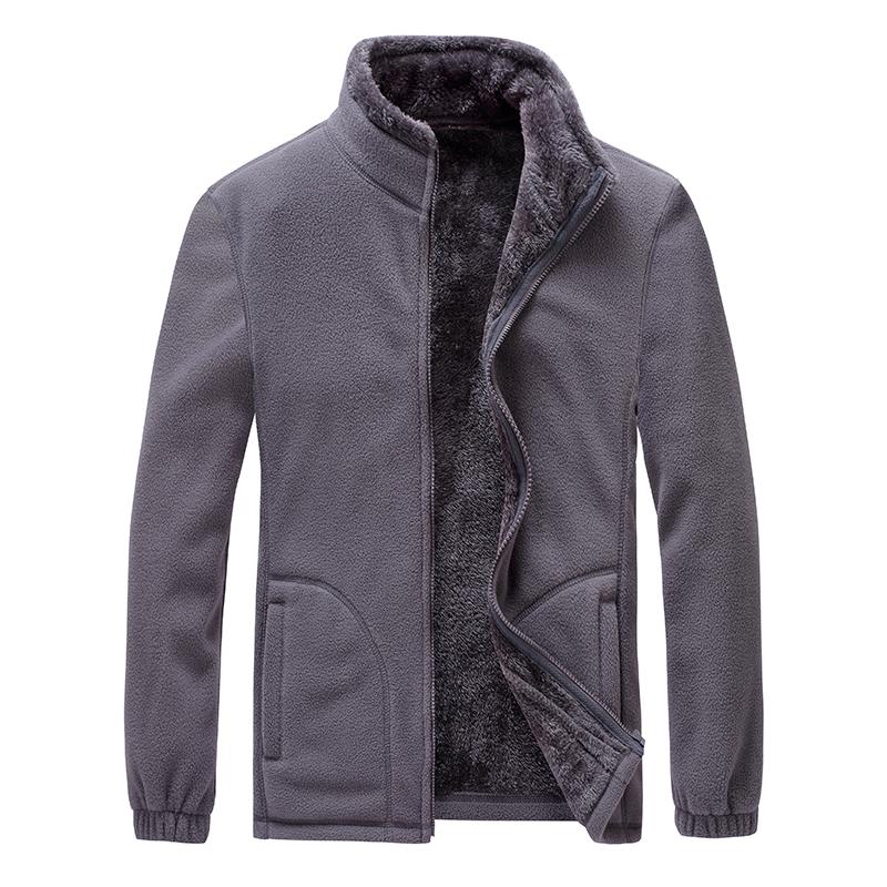 CINESSD 男款保暖抓绒外套,灰色款 采用聚热抓绒面料,内里加绒,轻量保暖,抗寒锁温,舒适透气!79430