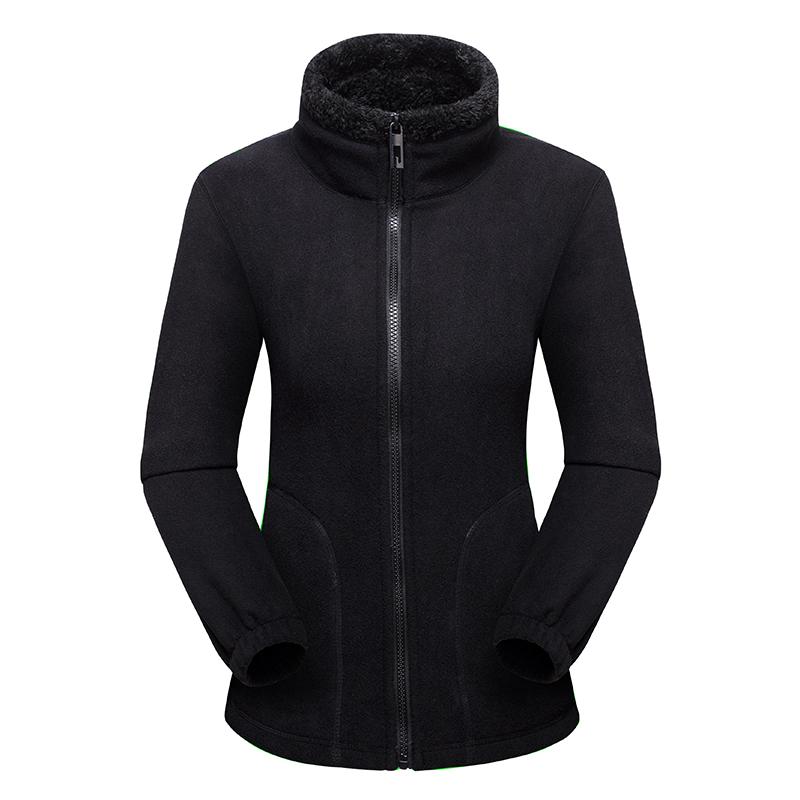 CINESSD 女款保暖抓绒外套,黑色款 采用聚热抓绒面料,内里加绒,轻量保暖,抗寒锁温,舒适透气!79430