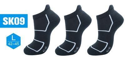 okato 【3双装】速干除臭 吸湿 排汗 薄款 低腰 毛巾底 毛圈 船袜SK19   79783